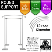 12ft Round Four Post Drape Support for 4-Post Canopy - 4 Piece