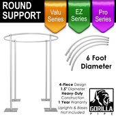 6ft Round Drape Support for 4-Post Canopy - 4 Piece