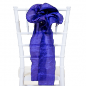 "DecoStar™ 9"" Crushed Taffeta Flower Chair Accent - Royal Blue"