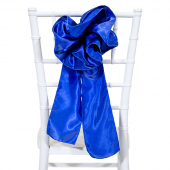 "DecoStar™ 9"" Satin Flower Chair Accent - Royal Blue"