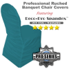 Premium Ruched Chair Cover - Spandex/Lycra - Teal
