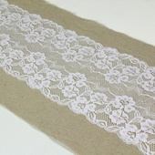 Burlap and Lace Sash - 7