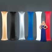 "Satin Fabric Cover for Column - 8ft high x 24"" wide"