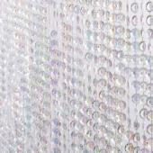 DecoStar™ Satin Top Rod Pocket 6ft. Jewel Crystal Iridescent Diamond Cut Curtain