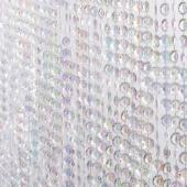 DecoStar™ Satin Top Rod Pocket 12ft. Jewel Crystal Iridescent Diamond Cut Curtain