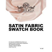 Deco Satin Fabric Swatch Book by Eastern Mills - All Satin Products