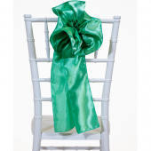 "DecoStar™ 9"" Satin Flower Chair Accent - Seafoam Green"