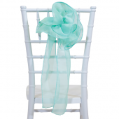 "DecoStar™ 9"" Sheer Flower Chair Accent - Seafoam Green"