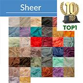 *FR* Sheer Voile Fabric by Eastern Mills By The Yard - 10FT Wide - Choice of Colors