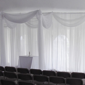 30ft Sheer Valance by Eastern Mills in Assorted Colors