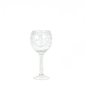 "DecoStar™ Formal Engraved Glass Goblet 16"" - Small"