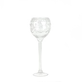 "DecoStar™ Formal Engraved Glass Goblet 20"" - Medium"