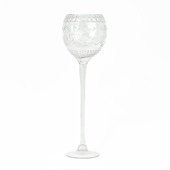 "DecoStar™ Formal Engraved Glass Goblet 24"" - Large"