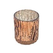 "DecoStar™ 3"" Glam Wavy Etched Pattern Mercury Glass Candle/Votive Holder - Bronze"