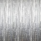Silver - Cracked Ice Fringe Curtain - Many Size Options