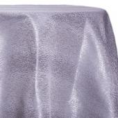 Silver - Designer Mardi Gras Linen Broad Tablecloth by Eastern Mills w/ Brushed Metallic Finish - Many Size Options