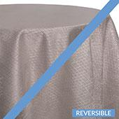 Silver - Extravagant B Tablecloths - DOUBLE-SIDED - MANY SIZE OPTIONS