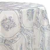 Silver - Majestic Doar Lace Overlay by Eastern Mills - Many Size Options