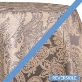 Silver - Martinique Designer Tablecloths by Eastern Mills - Many Size Options