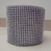 DISCONTINUED ITEM - DecoStar™ Silver Rhinestone Mesh-30 Foot Roll