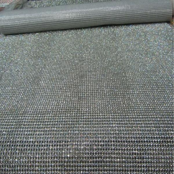 Rhinestone Mesh Sheet 4ft Long X 18 Wide Silver