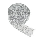 "DISCONTINUED ITEM - DecoStar™ Silver Rhinestone Ribbon - 2"" Wide x 30ft Long"