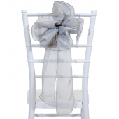 "DecoStar™ 9"" Sheer Flower Chair Accent - Silver"