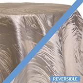 Silver - Stormy Tablecloths - DOUBLE-SIDED - MANY SIZE OPTIONS