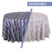 Sky Blue - Marble Designer Tablecloths by Eastern Mills - Many Size Options