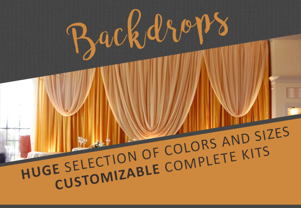 Event decor direct buy wholesale wedding decorations linens backdrops pipe drape pole covers tradeshow supplies junglespirit Image collections