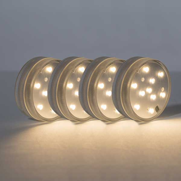 Led White Puck Light With Remote 2 Pack Brrc134: Small Puck Lights