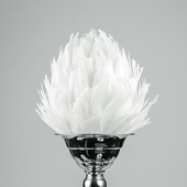 DecoStar™ Premium Feather Ball - White - Choice Of Size