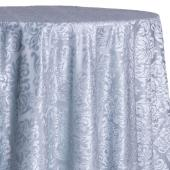 Spa - Damask Contemporary Velvet & Sheer Overlay by Eastern Mills - Many Size Options