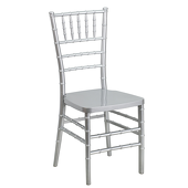 EnvyChair™ Elegant Resin Chiavari Chair - Silver