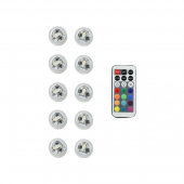 Submersible - RGB - LED Accent Lights w/ on-off switch (10 Pack)