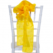 "DecoStar™ 9"" Crushed Taffeta Flower Chair Accent - Sun Flower"