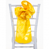 "DecoStar™ 9"" Satin Flower Chair Accent - Sunflower"