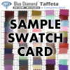 Spandex Color Swatch Card