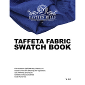 Taffeta Fabric Swatch Book by Eastern Mills - All Taffeta Products
