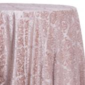 Tan - Damask Contemporary Velvet & Sheer Overlay by Eastern Mills- Many Size Options