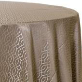 Taupe - Hiren Designer Tablecloths by Eastern Mills - Many Size Options
