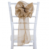 "DecoStar™ 9"" Sheer Flower Chair Accent - Taupe"