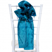 "DecoStar™ 9"" Crushed Taffeta Flower Chair Accent - Teal"