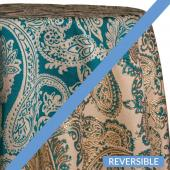 Teal - Martinique Designer Tablecloths by Eastern Mills - Many Size Options