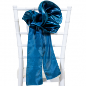 "DecoStar™ 9"" Satin Flower Chair Accent - Teal"
