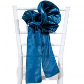 "DecoStar™ 9"" Satin Flower Chair Accent - Teal"
