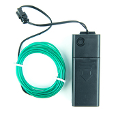 DISCOUNTED ITEM - Battery-Operated Electroluminescent (EL) Wire - 6ft (1.8M) Long - TEAL