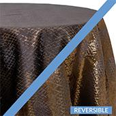 Topaz (Black) - Extravagant B Tablecloths - DOUBLE-SIDED - MANY SIZE OPTIONS