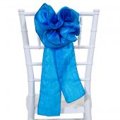 "DecoStar™ 9"" Crushed Taffeta Flower Chair Accent - Turquoise"