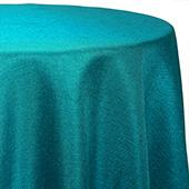 Turquoise - Designer Glitz Linen Broad Tablecloth by Eastern Mills - Many Size Options